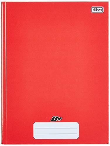 Caderno Brochura Capa Dura Universitário, Tilibra, D+, 48 Folhas, Vermelho