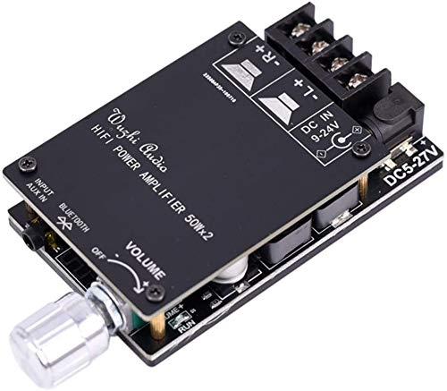 FLOX Audio/Bluetooth Verstärker Brett, Mini Verstärker Brett TPA3116 Dc 5V-24V Digital Stereo Leistungsmodul für Lautsprecher Tonanlage DIY - 82 x 50 x 18mm - Wie Bild Show, with Shell