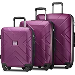 Cool and functional 3 pieces luggage sets for traveler who wants more personal style and more joy throughout the journey. Made of durable and lightweight ABS material, this luggage set makes a superb choice for those who are constantly on the go. Fea...