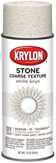 Krylon K18213 Coarse Stone Texture Finish Spray Paint, White Onyx, 12 Ounce