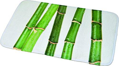 EVIDECO Impreso Microfibra Alfombrilla de baño Alfombra bambú Ecobio Verde 17W x 29,5L
