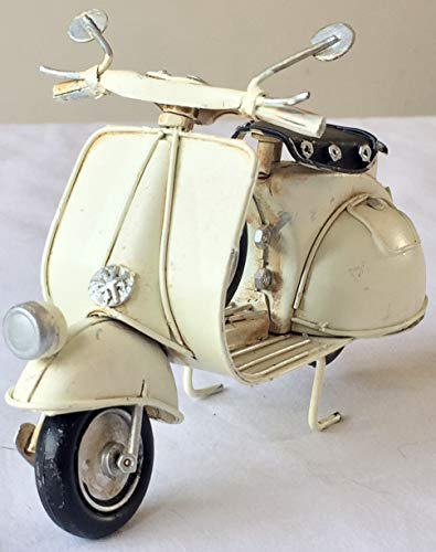 Lovely Retro Vintage Tin Metal para patinete Vespa MOD bicicleta moto adorno–adorno de 18cm de largo–gran...