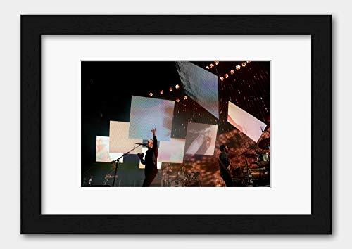 Radiohead - Thom Yorke Rod Laver Arena 2012 Poster 5 Black Frame A3 (29.7x42cm) White