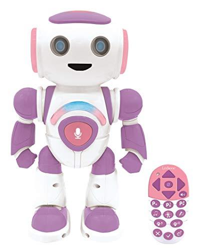 Lexibook ROB20GEN Powergirl Jr. Smart interaktives, Geist liest Spielzeug für Kinder Tanzt spielt Musik Tier Quiz STEM programmierbar Fernbedienung Junior Girl Roboter Pink/Lila
