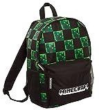 Minecraft Rucksack für Kinder und Erwachsene, Creeper Gamer Schultasche, Gaming-Laptop-Rucksack, Geschenk für Gamer