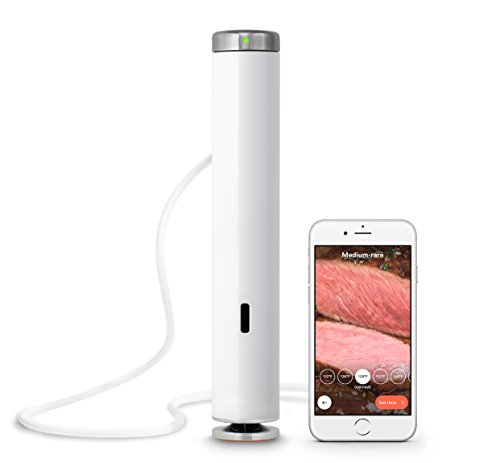 Breville Joule Sous Vide, 1100 Watts, White Body, Stainless Steel Cap & Base