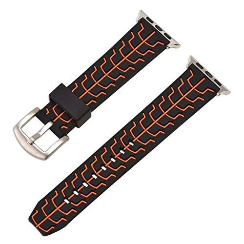 YYCHER Correa de goma para reloj 4, 5, 6, SE, 40 mm, 44 mm, correa de silicona suave para IWatch Series 6, 5, 4, 3, 2, 1, 38 mm, 42 mm, color rojo, tamaño: 38 mm o 40 mm