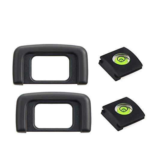 D3500 - Visor ocular para cámara Nikon D5500, D5300, D5100, D3500, D3400, D3200, D3300, D3100, D3000, D5600, D5000, D5200, sustituye a DK-25 [2+2 paquetes]
