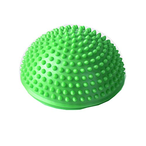 XQDSP Yoga Half Ball Körperliche Fitness Appliance Übung Balance Ball Point Massage Stepping Pilates Fußmassage Stabilität Training Balance-Therapie in Mehreren Farben,Green