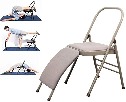 Lowest Prices! ZHWGS Yoga Chair Headstand Bench Yoga Chair with Lumbar Support,Foldable Yoga Inversi...