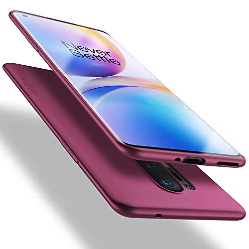 X-level OnePlus 8 Pro Hülle, [Guardian Serie] Soft Flex TPU Hülle Superdünn Handyhülle Silikon Bumper Cover Schutz Tasche Schale Schutzhülle für OnePlus 8 Pro - Weinrot