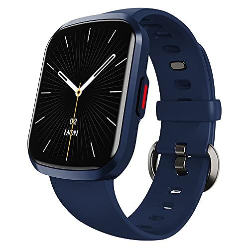 hanyumaoyi Reloj Inteligente Pantalla Completa Pulsera Inteligente Ritmo cardíaco con monitoreo de oxígeno de Sangre Reloj Deportivo (Color : Blue)