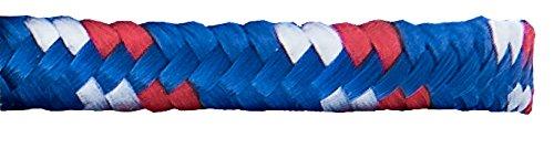 Connex DY2701713 Polypropylenseil 9,5 mm x 15 m, blau-rot-weiß, Schwimmfähig, UV-beständig