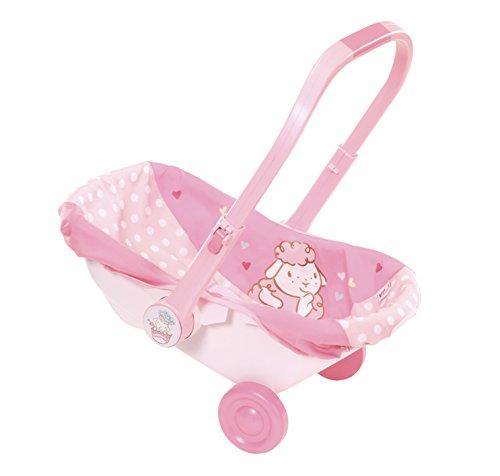 Zapf Creation - Babyschale für Puppen bis max. 46 cm zum Tragen, Ziehen und Rollen - Puppenzubehör geeignet für Kinder ab 3 Jahren, rosa.