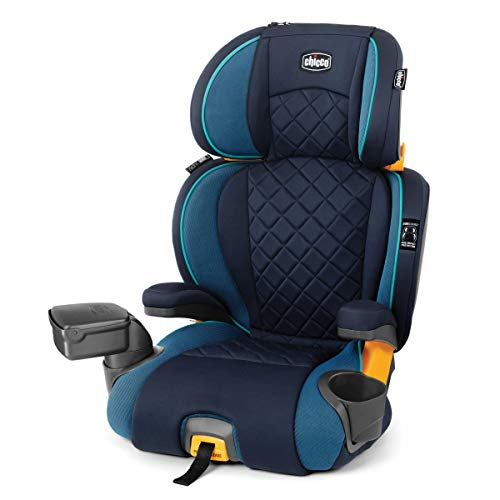 Chicco KidFit Zip Plus 2-in-1 Belt Positioning Booster Car Seat - Seascape, Blue