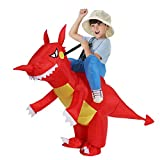 TOLOCO Inflatable Dinosaur T-REX Costume for Kids| Halloween Costume | Blow Up Costume