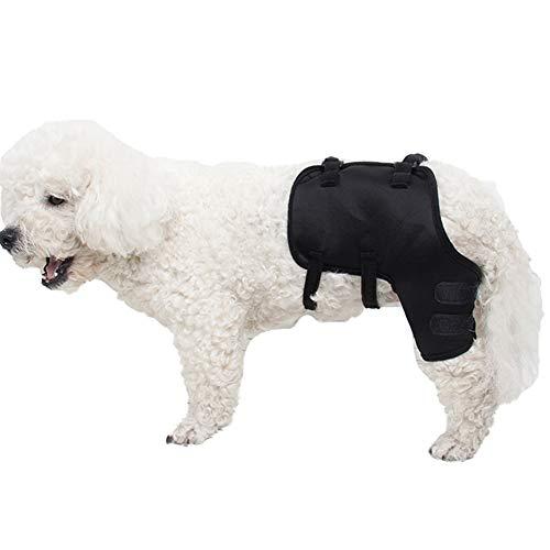 MOCOHANA Black Dog Knee Support Sleeve Dog Front Leg Brace Rear Dog Hock Support Heals Hock Joint...