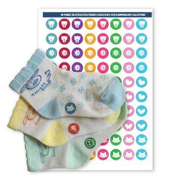 Etiketten zum Markieren Ihrer Sockenpaare, Modell2 Mädchen