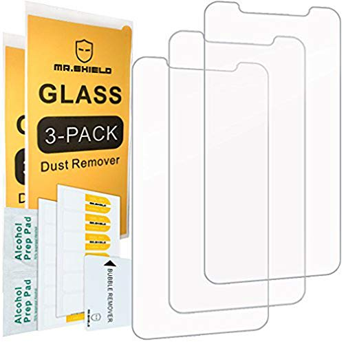 [3-Pack]-Mr.Shield for iPhone Xs Max/iPhone 11 Pro Max [Tempered Glass] Screen Protector [Japan Glass with 9H Hardness] with Lifetime Replacement