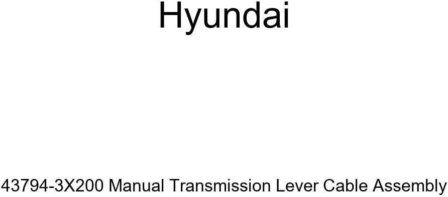 Genuine Hyundai 43794-3X200 Manual Cable Asse Lever Transmission Max 80% OFF Max 80% OFF