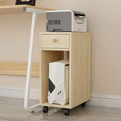 DFBGL Soportes para Impresora Soporte para Impresora y fotocopiadora láser de Madera, Soporte Giratorio para CPU con Ruedas giratorias de Bloqueo de 10,6 x 15,7 x 27,6 Pulgadas para ofic