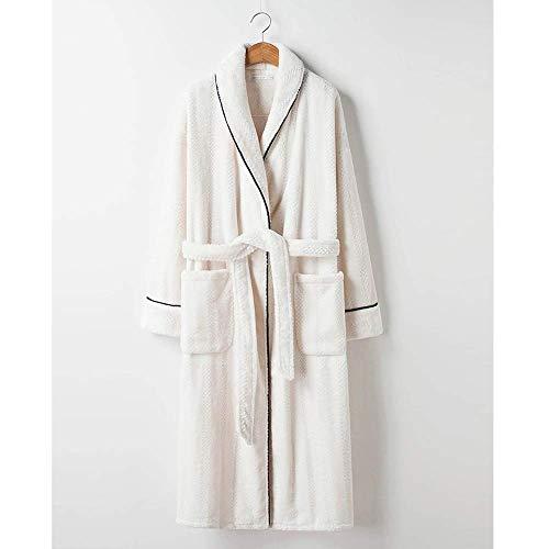 Tokyia Mantener caliente Pijamas de las mujeres del traje de invierno polar de coral franela baño for mantener el calor en el largo párrafo del otoño y del invierno pueden ser usados fuera de Homewe