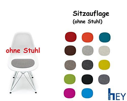 Hey Sign Sitzauflage Sitzkissen Filz für Stuhl Eames Plastic Side Chair, Antirutsch, 5 mm + Stoffbeutel (Anthrazit)