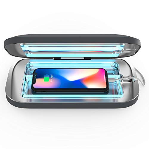PhoneSoap Pro UV Smartphone Sanitizer & Universal Charger | Patented & Clinically Proven UV Light Disinfector | (Charcoal)