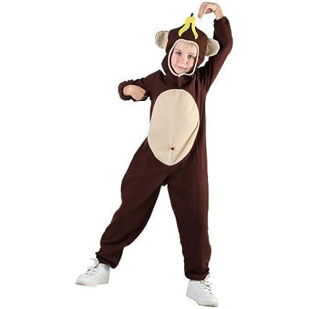 Kids Animal Boogie Woogie Cheeky Monkey Fancy Dress Halloween Party Costume New