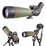 Gosky 20-60X80フィールドスコープ Nikon一眼レフカメラ接続 スポッティングスコープ バードウォッチング 天体観測