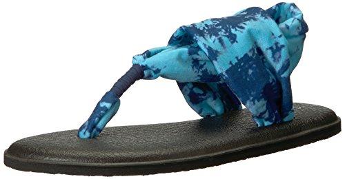 Sanuk Damen Flop Yoga Sling 2 Solid Vintage, Flip-Flops, Navy Tye Dye, 39 EU