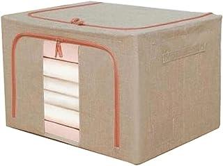 Lpiotyucwh Paniers et Boîtes De Rangement, Vêtements Organisateur Coton et lin Tissu Art Boîte de rangement grande capacit...