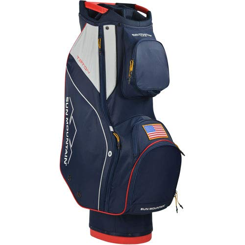 Sun Mountain 2020 Teton Cart Bag (Navy-White-RED)