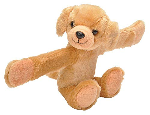 Wild Republic Huggers Yellow Lab Plush Toy, Slap Bracelet, Stuffed Animal, Kids Toys, 8 Inches