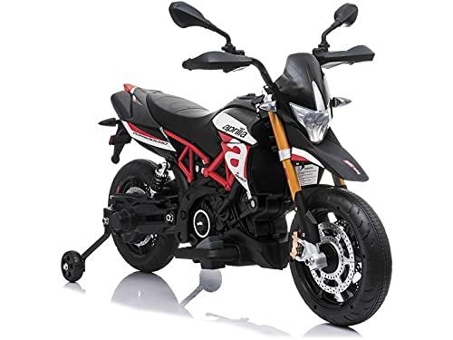 RIDE TRIKE Moto 12V. Aprilia Dorsoduro 900 Negra