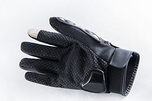 Motorradhandschuhe Pursuit Moto L schwarz kurz Sommer Touchscreen für Herren und Damen Motocross Handschuhe Fahrrad MTB Roller Sport Mofa - 3