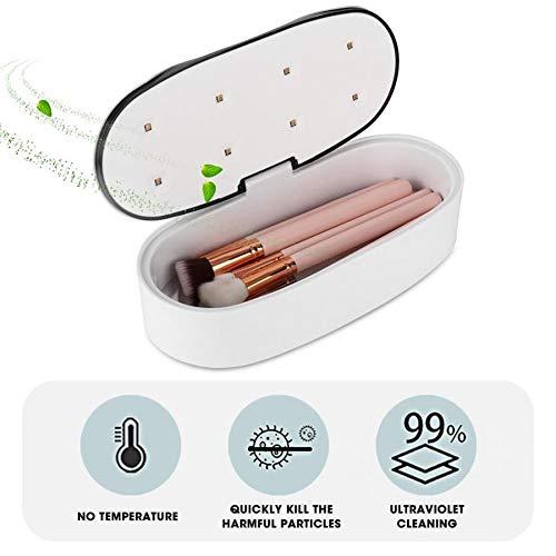 Draagbare 60S / 90S UV-reinigingsdoos met USB-voeding/geïntegreerde batterij LED-nagellak UV-desinfectie Sterilisatiebox