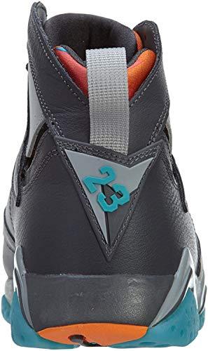 Nike Air Jordan 7 Retro, Zapatillas de Deporte para Hombre, Gris/Azul/Dorado (Drk Gry/Trqs Bl-WLF Gry-Ttl Or-), 48 1/2 EU