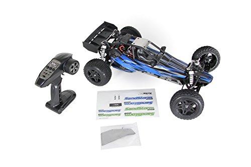 RC Auto kaufen Buggy Bild 2: XciteRC 30205000 - Ferngesteuertes RC Auto SandStorm one8 - 2WD RTR Dune Buggy Brushed Modellauto, blau*