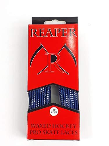 REAPER Schnürsenkel Eishockey gewachst, Schuhbänder Hockey 84-120 Zoll (royal blau, 96 Zoll (244cm))