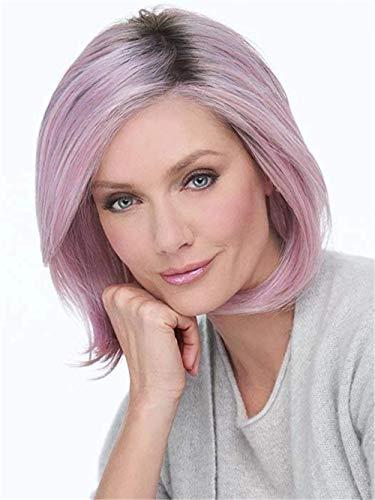 Perruque Charme Naturel Lâche Bouclés Cheveux Perruques Rose Perruques Cheveux pour Les Femmes Fibre Légère Naturel Synthétique Cosplay Halloween Robe Parti Perruques