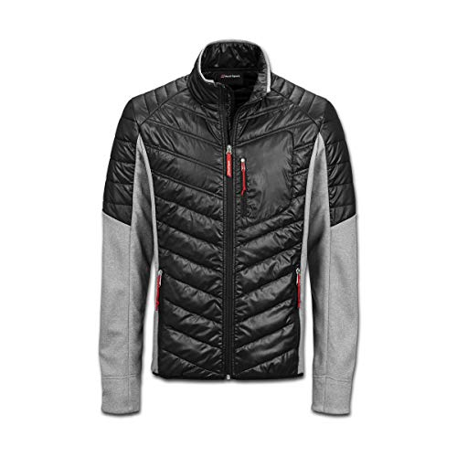 Audi collection 313180150 Audi Sport Hybridjacke, Herren, Schwarz/Grau, XL