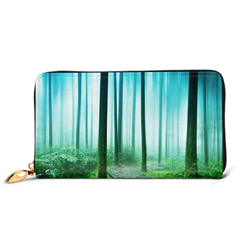 JHGFG Mode Handtasche Reißverschluss Brieftasche Baumwurzel bedeckt Gesamter Boden Telefon Kupplung Geldbörse Abendkupplung Blockieren Leder Brieftasche Multi Card Organizer