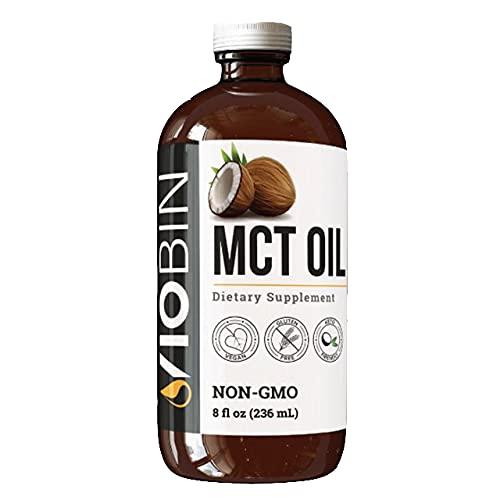 Viobin MCT Oil - 8 Fl. Oz. - Coconut MCT Oil Keto Made From Pure Coconut Oil - A Top MCT Coconut Oil for Cooking and MCT Oil for Coffee Made From Natural Coconut Oil - Aceite de Coco