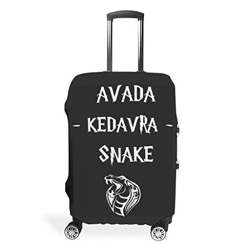Avada Kedavra Snake Travel Luggage Cover Suitcase Protector Bag White s (19-21 inch)