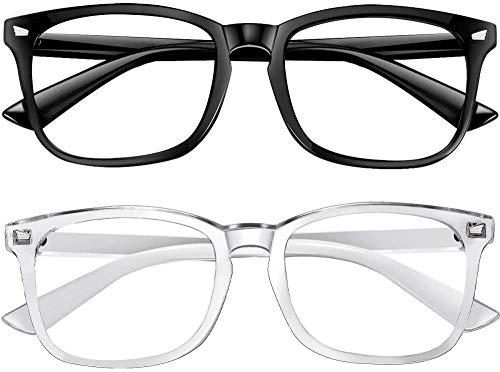 Blaulichtfilter Lesebrille Brille Damen Und Herren Brille Blaulichtfilter Ohne SehstäRke Gaming Blaulichtfilter Brille Kinder Uv Brille Pc Gamer Brille Bestes Geschenk Moderne Brille Damen,黑色+透明
