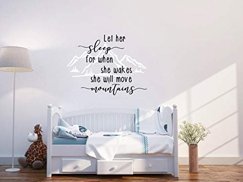 Let herhim Sleep for when shehe wakes shehe will move mountains vinyl wall decal