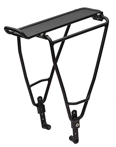 Blackburn Local Deluxe Front or Rear Bike Rack – Flat (Black, One Size)