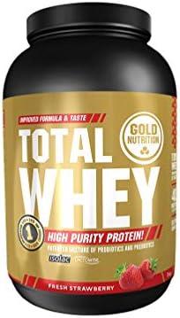 GoldNutrition Total Whey Proteina 1kg, Fresa, Aumenta y ...
