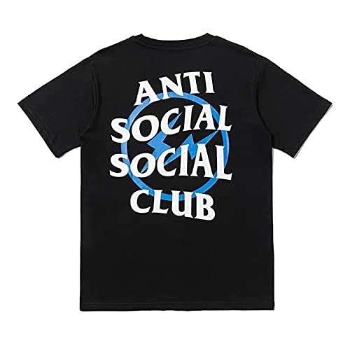 Anti Social Social Club Kanye Hip Hop Fan Camiseta Unisex Cuello Redondo Camiseta de Manga Corta Camiseta ASSC,A1,M